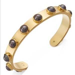 NWOT Gold-Tone Imitation Pearl Studded Cuff